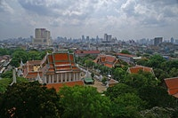 A view over Bangkok from the Golden Mountain and the Wat Saket Temple. Photo by Lionoche, flickr.com.