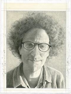 Portrait of Robert Hullot-Kentor. Pencil on paper by Phong Bui.
