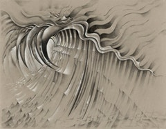 "Lee Bontecou, American, born 1931. ""Untitled"" (1985). Charcoal, pencil, and colored pencil on colored paper. 22 x 30"" (55.9 x 76.2 cm). The Museum of Modern Art, New York. The Judith Rothschild Foundation Contemporary Drawings Collection Gift © 2010 Lee Bontecou"