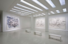 Installation view: Julie Mehretu: Grey Area, Solomon R. Guggenheim Museum, New York, 2010. Photo: David Heald. © The Solomon R. Guggenheim Foundation, New York