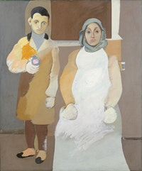 "Arshile Gorky, ""The Artist and His Mother"" (ca.1926–1936). Oil on canvas. 60"