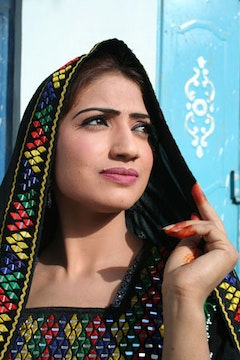 Actress Kireen, Pashtun movie star.  Photo: George Gittoes