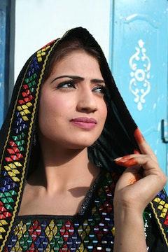 Actress Kireen, Pashtun movie star.  Photo: George Gittoes