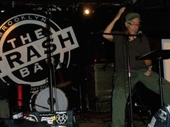 Pastor Mike during a sermon at Trash Bar.  Photo by Erika Eichelberger