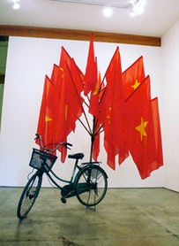 """Dinh Q. Lê, """"The Infrastructure of Nationalism"""" (2009). Found Objects. Courtesy of the artist."""