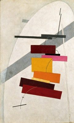 El Lissitzky (1890 - 1941). Untitled, ca. (1919–20). Oil on canvas, 79, 6 x 49, 6 cm. The Solomon R. Guggenheim Foundation. Peggy Guggenheim Collection, Venice 76.2553.43. ©2010 Artists Rights Society (ARS), New York.