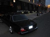 Valet parking the Jag at New York Loft Hostel Varet Street, Bushwick