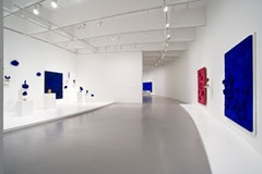 "Installation view of ""Yves Klein: With the Void, Full Powers"" (2010). Hirshhorn Museum and Sculpture Garden. © 2010 Artists Rights Society (ARS), New York/ADAGP, Paris. Photo by Lee Stalsworth."