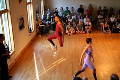 Minevent featuring dancers from Merce Cunningham Dance Company.  Photo by Mathew Pokoik, courtesy Mount Tremper Arts.
