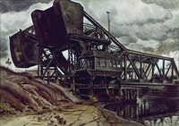 Black Iron, 1935. Watercolor on paper, 28 1/8 x 40 in. (71.1 x 101.6 cm). Private collection.