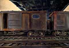 Freight Cars under a Bridge, 1933. Watercolor on paper, 24 x 34 in. (61 x 86.4 cm). The Detroit Institute of Arts, Detroit, Michigan. Gift of Dr. and Mrs. George Kamperman.