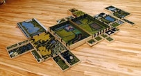 Katrin Sigurdardottir Green Grass of Home, 1997 Plywood, landscaping material, hardware