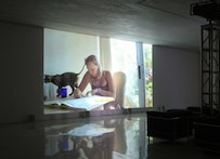 """PATTY CHANG """"The Product Love� dimensions variable, two-channel digital video installation (running time: 42 minutes), 2009, PHOTO COURTESY: MARY BOONE GALLERY, NEW YORK."""