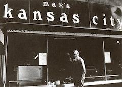 """""""Ronald Bladen outside Max's Kansas City."""" Courtesy Loretta Howard Gallery."""