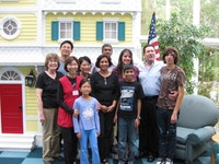 The Flushing Rotary Club (the Host Club ) hosted a get together for Vasu Chadeesingh and his family in the Ronald McDonald House in New Hyde Park where Vasu stayed since his arrival on 9/8. Front row, left to right: Pat Coulaz, G.O.L. Program Director, Veronica Tsang, G.O.L. Sponsor and Flushing Rotary Club Vice President, Annie Cheng, Shobha Chadeesingh (Vasu's mother ), and the G.O.L. child Vasu Chadeesingh. Back row, left to right: Einstein Cheng, Cecilia Cheng, Mr. Chadeesingh (Vasu's father), Angela Flori and Dan Flori, Flushing Rotary Club President, and Danny's son. Photo courtesy of the Gift of Life organization.