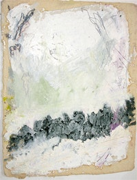 "Nancy Brett, ""Untitled Painting"" (2008). 20"" x 20"". Photo courtesy the Fine Art Adoption Network."