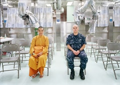 An-My Lê, Patient Admission, US Naval Hospital Ship Mercy, Vietnam, 2010. Archival pigment print, 40 x 56 1/2 inches. Edition of 5. Courtesy of Murray Guy, New York.