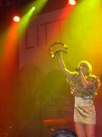 Little Boots performing at Lilith Fair; photo: Lauren Duffy.