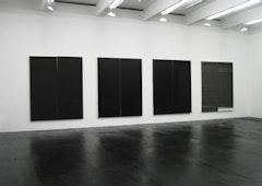 Wade Guyton <i>Installation,</i>Friedrich Petzel Gallery 2007 Image courtesy of Friedrich Petzel Gallery, New York. Photo: Thomas Mueller