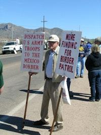 Minutemen in Arizona, April 2006. Photo by Gabriel Thompson.