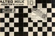 Rudy Burckhardt (American, born Switzerland, 1914-1999) [Checkerboard Tiled Wall Detail with Ice Cream Advertisements, New York City] 1938 Gelatin silver print 16.5 x 25.2 cm (6 1/2 x 9 15/16 in.) The Metropolitan Museum of Art, Purchase, Florance Waterbury Bequest, 1972 (1972.585.19) © Estate of Rudy Burckhardt