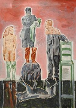 "Nicky Nodjoumi, ""Expanded Rules"" (2010). Oil on canvas 70 x 50 in. (178 x 127 cm). Image courtesy of Priska C. Juschka Fine Art."