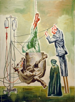 "Nicky Nodjoumi, ""Loose Comedy"" (2010). Oil on canvas, 70 x 50 in. (178 x 127 cm). Image courtesy of Priska C. Juschka Fine Art."
