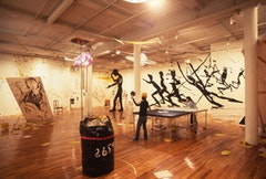 Jonathan Borofsky, installation, Paula Cooper Gallery, 1980.