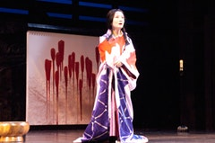 Ako as Lady Asaji in Ping Chong's Throne of Blood. Photo by Jenny Graham.