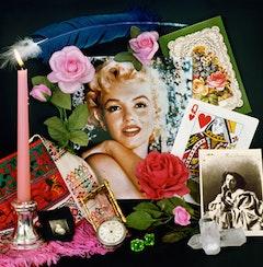 """Audrey Flack, """"Marilyn: Elegy"""" (1980). Cibachrome. 17 x 16 3/4 inches."""