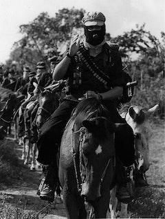 Photo of Subcomandante Marcos. Photographer unknown.