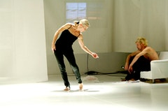 Diane Madden, Joey Truman in <i>now and nowhere else</i>. Photo:  Minna Suojoki.