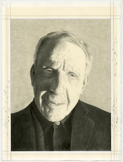 Portrait of Kenneth Frampton. Pencil on paper by Phong Bui.