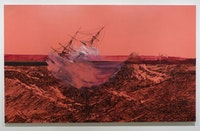 "Whitney Bedford. ""Untitled shipwreck"" (2010). ink and oil on panel. Courtesy of the writer."