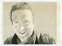 Portrait of Christopher Knight. Pencil on paper by Phong Bui.