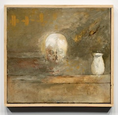 """SKULL AND VASE (SOURCE),"" 2010. Oil on linen, 17 1/2"