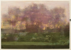 """Backlit Garden: Sunset,"" 2009. Oil on linen. 75 x 105 in."