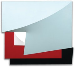 Charles Hinman (b. 1932). Overlap, 1980. 41 x 46 x 6 inches.  Acrylic on canvas.