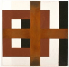 Harvey QUAYTMAN (American,1937-2002). Untitled, 1991rust, dry pigment and acrylic medium on canvas. 46 x 46 inches