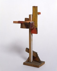 """Untitled (Divertimiento)"" (c. 1968–97). Painted wood . 8 1/4 x 3 1/2 x 1 7/8 in.  Museo de Arte Contemporáneo Esteban Vicente, Segovia."