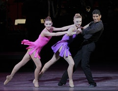 Tiler Peck, Sara Mearns and Amar Ramasar in Frankie and Johnny...and Rose. Photo credit: Paul Kolnik.