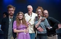 The Little Theatre Curating Team- Rob Erickson, Normandy Raven Sherwood, Jeff Jones, Tina Satter, Scott Adkins. Photo by Jude Domski.
