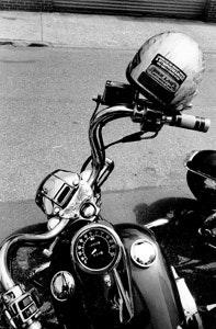 Black Skull Red Flame Eyes Dual Bike Chain Bracelet for Harley Motorcycle Biker