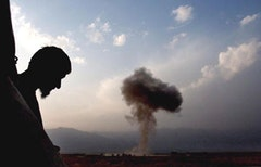 Frontline, Afghanistan, 2004. Lamda print. 11 x 16 1/2 inches. Moises Saman © 2004, Newsday, Inc.
