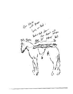 "Robert Whitman.  ""Horse 2."" Sketch for some of the ideas from Passport, 2010."