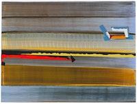"Juan Uslé, ""Solaris (Vacio)"" (2010). Vinyl, dispersion, and dry pigment on canvas. 18 x 24 inches."