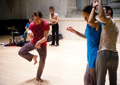 Arturo Vidich (left) in Yvonne Meier's Scores (2009). Photo by Ian Douglas.