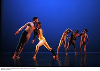 Members of Merce Cunningham Dance Company perform CRWDSPCR (2007). Photo by Anna Finke.