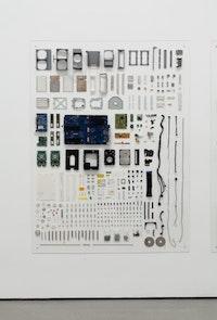 Detail installation view of <i>94: Henrik Olesen</i>. The Museum of Modern Art, NY.  Photo credit: Jason Mandella.
