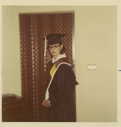 Graduation day, May 1970.